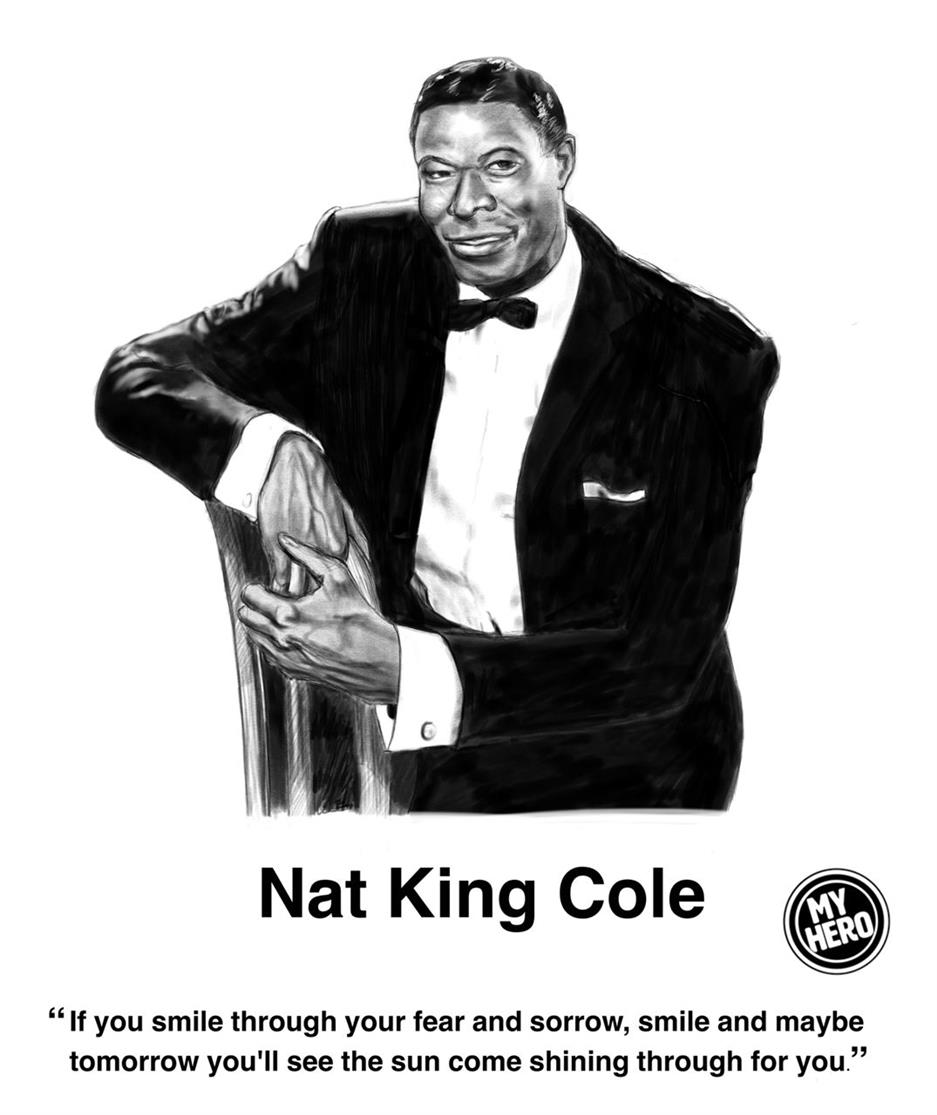 Picture of Nat King Cole Portrait by St George