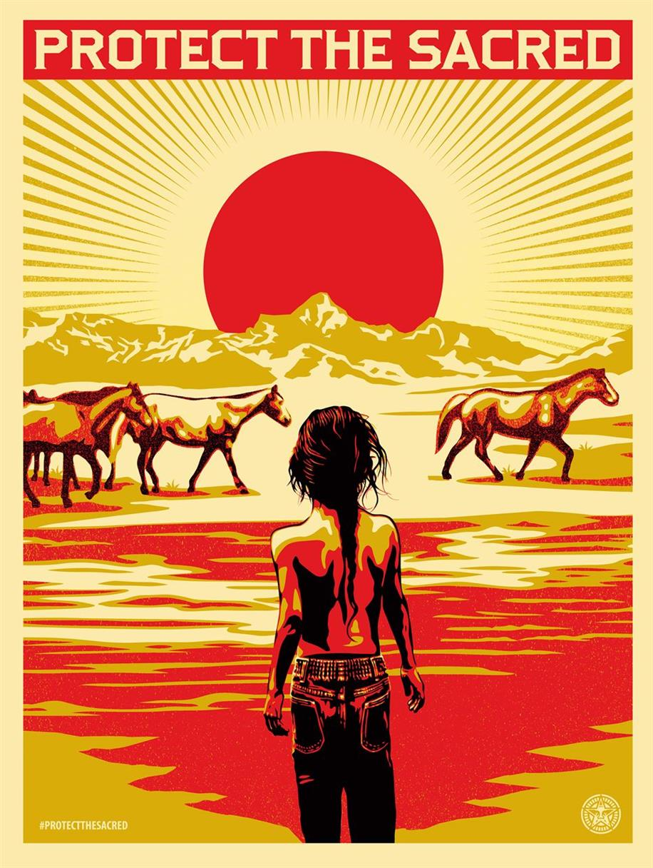 Picture of Protect the Sacred by Shepard Fairey for Amplifier