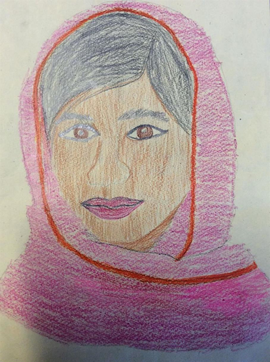 Picture of Malala Yousafzai by Avery from Cochrane