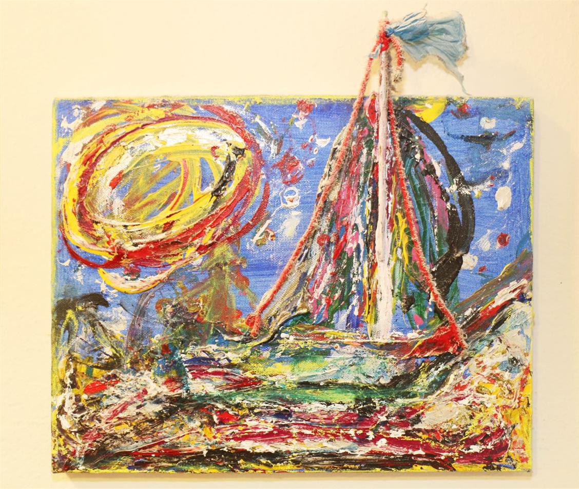 Picture of Sun with Sailboat by Ron Kovic