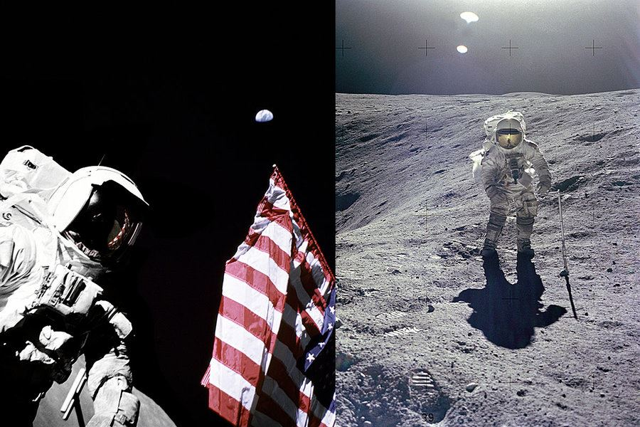 Picture of 'It smells like gunpowder': Astronauts tell of their time on the moon