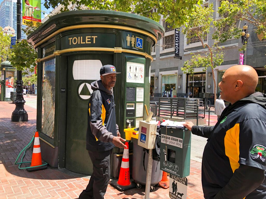 Picture of San Francisco curbs waste with public toilets, 'poop patrol'