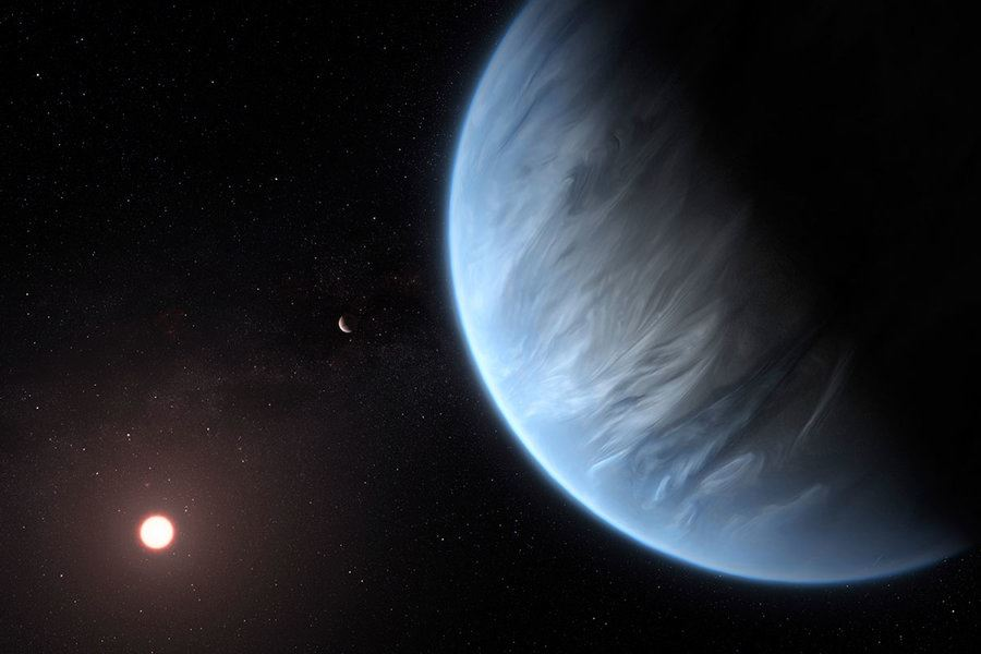 Picture of Astronomers find water vapor on distant, temperate planet