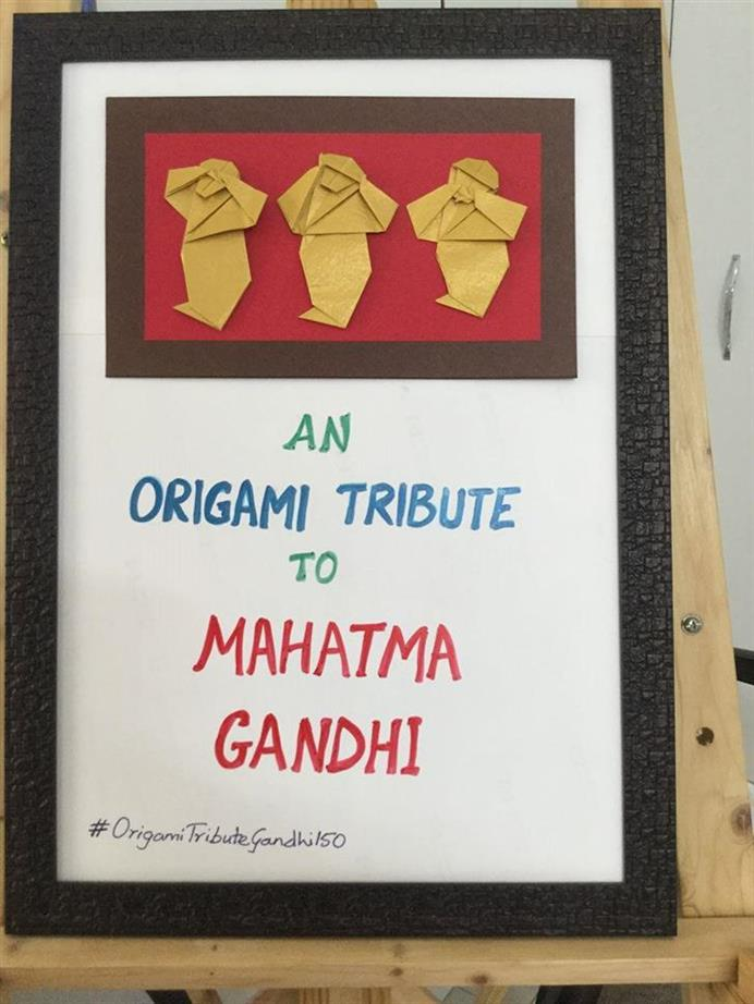 Picture of Origami Tribute to Mahatma Gandhi by Kalyani Voleti from India