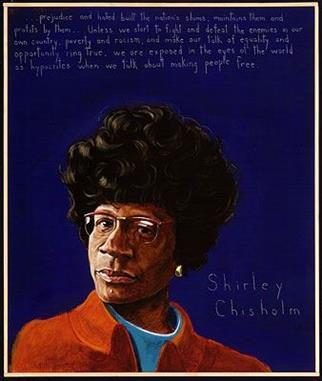 Picture of Shirley Chisholm by Robert Shetterly, AWTT.org