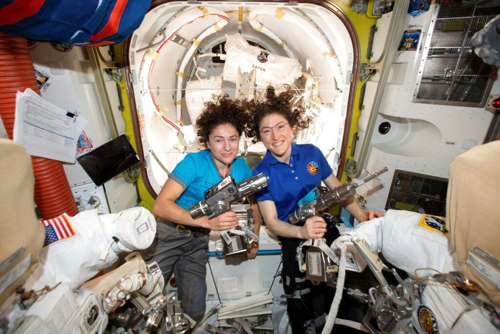 Picture of First all-female spacewalking team makes history