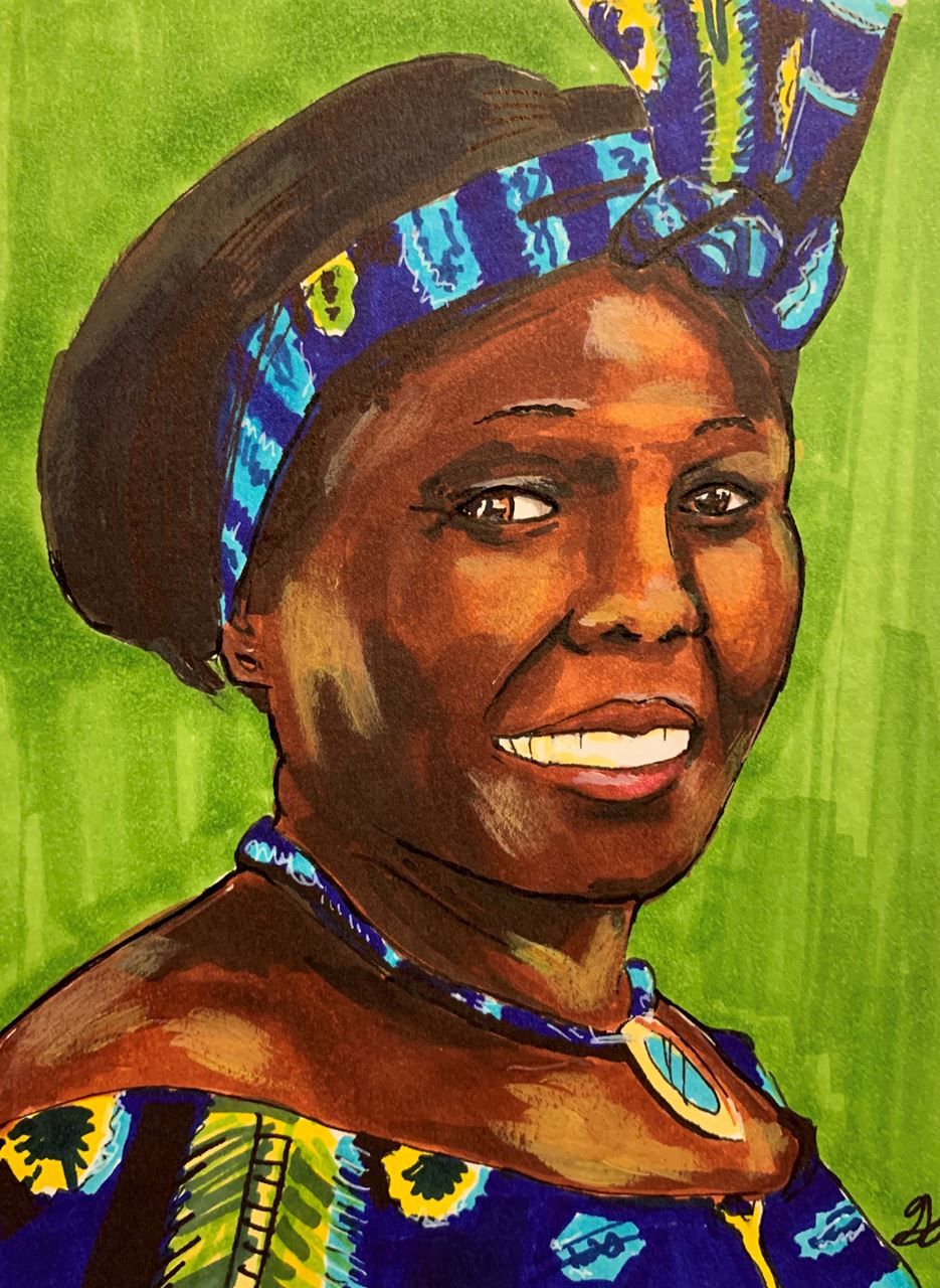 Picture of Wangari Maathai by Guinevere D from Henrietta, NY