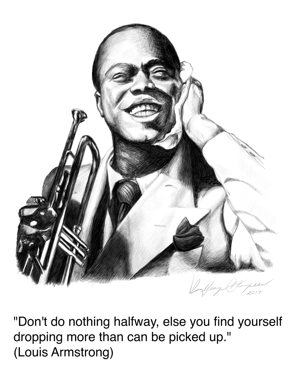 Picture of Louis Armstrong Portrait