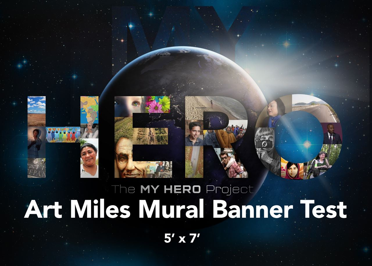 Picture of Nate's Hero Faces Art Miles Banner