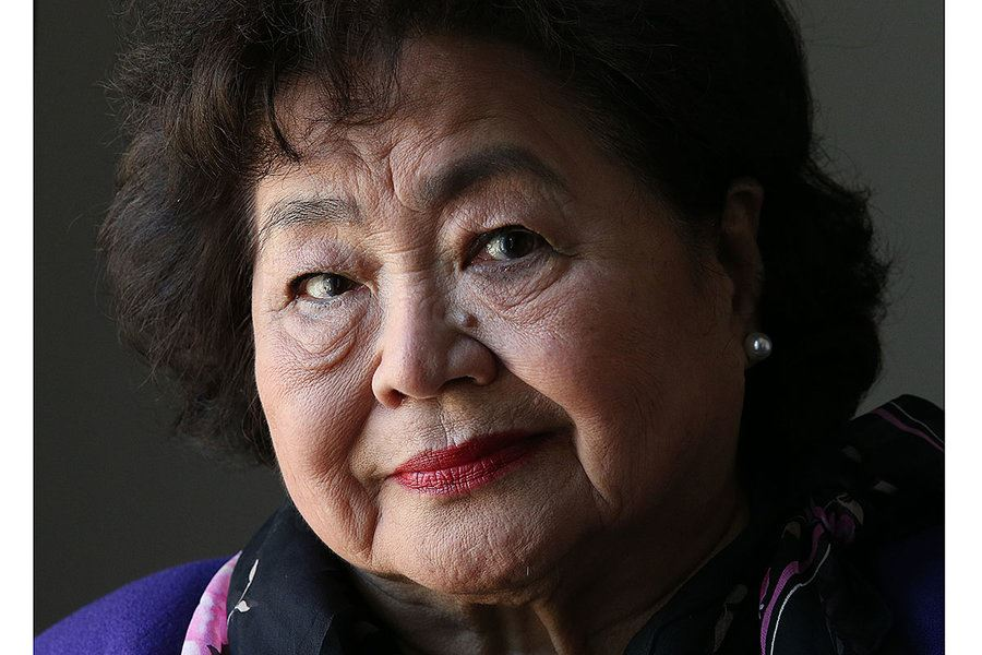 Picture of She survived an atomic bomb. Now she campaigns against them.