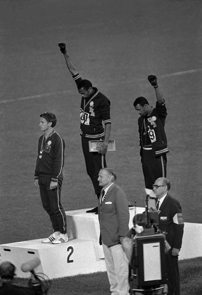 Picture of Tommie Smith, John Carlos, Peter Norman