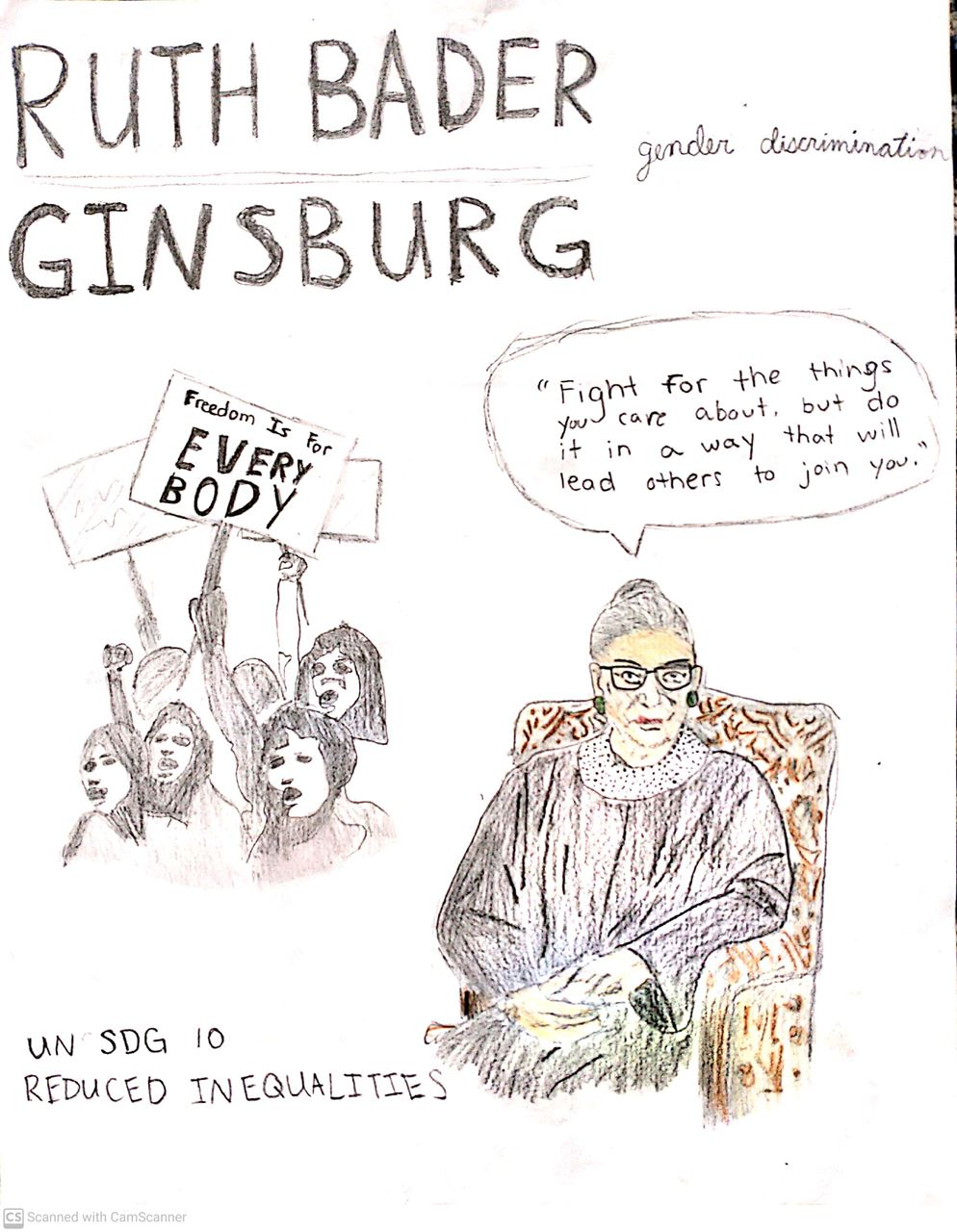 Picture of Ruth Bader Ginsburg By: Lily Cooke