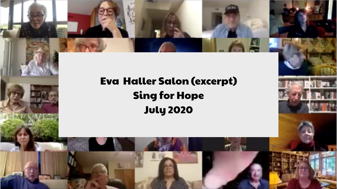 Picture of Eva Haller Salon (excerpt) - Sing for Hope with Camille Zamora and Monica Yunis