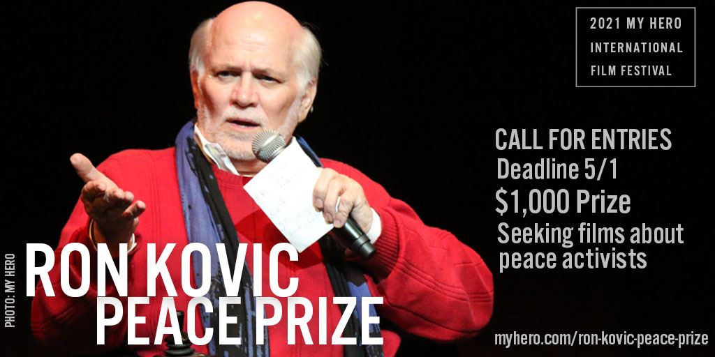 Picture of CALL FOR ENTRIES  -  MY HERO'S 2021 KOVIC PEACE PRIZE – DEADLINE MAY 1