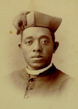 Photo provided by publisher Ignatius Press shows the Rev. Augustine Tolton, the first black Roman Catholic priest in the United States. (Courtesy Ignatius Press/AP)