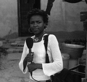 Thembi with recorder (http://www.radiodiaries.org)