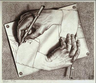 Drawing Hands 1948 Lithograph while in Holland