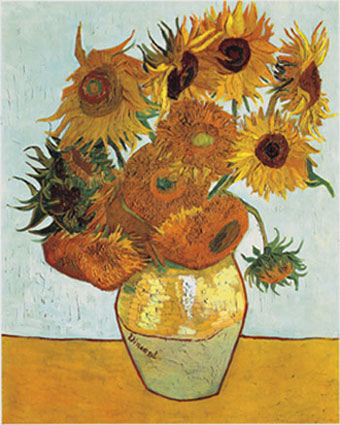 Still Life: Vase with Twelve Sunflowers, August 1888 (Neue Pinakothek, Munich).