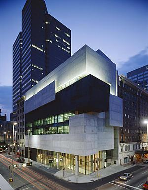 <a href=http://image.guardian.co.uk/sys-images/Guardian/Pix/gallery/2004/06/17/cincinnati3.jpg>Rosenthal Center for Contemporary Art</a>, Cincinnati, Ohio<br>  First project done by Zaha Hadid in the USA.