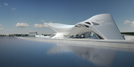<a href=https://www.worldarchitecturenews.com/index.php?fuseaction=wanappln.projectview&upload_id=617>Nuragic and Contemporary Art Museum</a> in Cagliari, Italy (Zaha's Cloud)