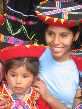 Dressed in traditional Peruvian wear<br> (Image from DoSomething.org)