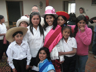 Ana in traditional Peruvian wear <br>(From GirlHealth.gov)
