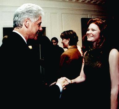 Ashley with President Clinton