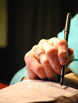 grandma's hand - Photo by Madeline Shields