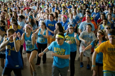 "Every hour and a half, marathoners will perform a choreographed dance to ""Good Vibrations"" by Marky Mark & the Funky Bunch."