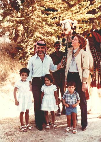 King Hussein and Queen Noor with Prince Ali, Princess Haya and Miss  Abeer.