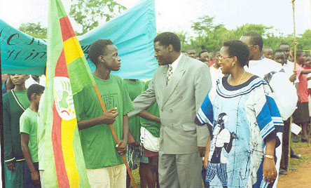 welcoming the prime minister of Buganda