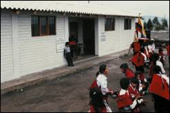 A new school built in Ecuador through the efforts of Free the Children<br>Photo from www.freethechildren.org