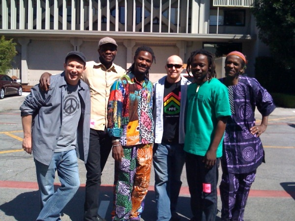 (left to right) Mark Johnson, Jason Tamba, Mohammed Alidu, Greg Johnson, Mermans Kenkosenki, Louis Mhlanga