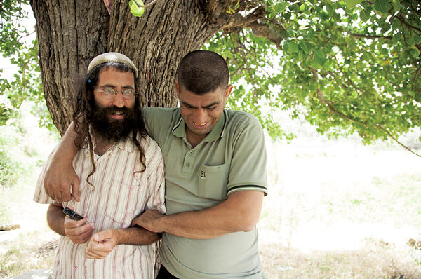 Shaul David Judelman (l.) and Ziad Abed Sabateen, in Bethlehem. They want to create an organic farm in the West Bank as a project for peace.  <P>Courtesy of Udi Goren