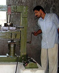 A seed oil press (photo from Gram Vikas)