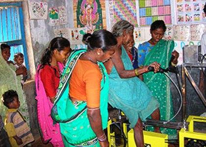 A 'Kandabanta' pedal-driven grinder (photo from Gram Vikas)
