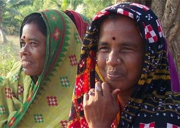Tribal women of Orissa (photo from Gram Vikas</a>)