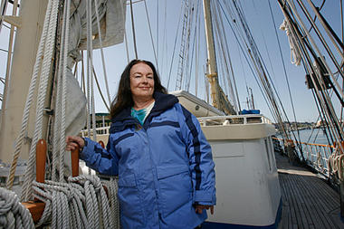 Mary Crowley's project wants to enlist fishing vessels to help attack the mass of floating plastic garbage known as the North Pacific Trash Gyre.