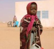 A Sudanese refugee. Photo courtesy of the <a href=https://www.theirc.org/>International Rescue Committee</a> and <a href=https://www.notonourwatchproject.org/what-we-do.html>Not On Our Watch</a>