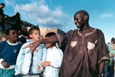 Otunnu and children in Columbia