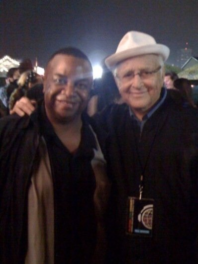 Reggie McBride and Norman Lear
