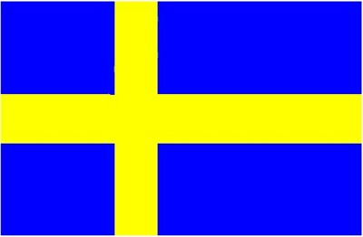The Swedish flag.