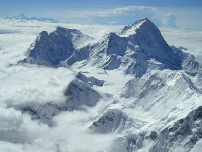 Makalu, world's fifth highest peak. View as seen by Lincoln as he waited.