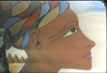 Mural created by Cheikh Seck's students