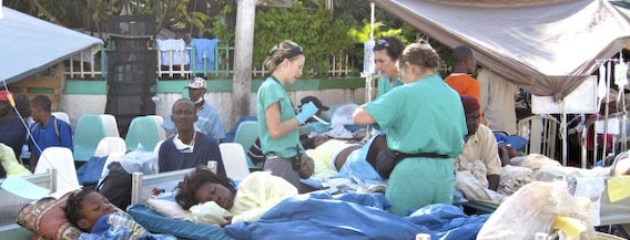 Partners in Health at work in Haiti