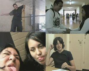 <center>Images from Taft High School student films</center>