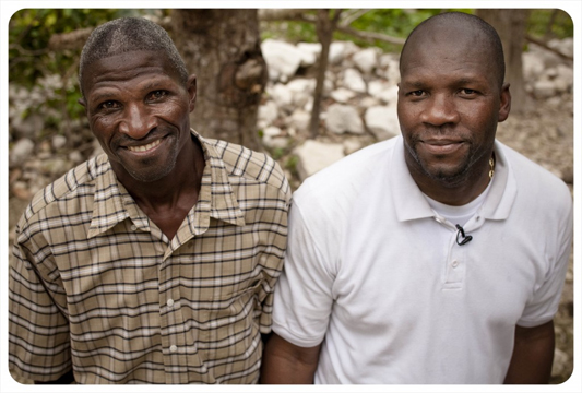 Josue and Chrismedonne Lajeunesse<br>Photo from http://www.philosopherkingsmovie.com/about/haiti-water-project/