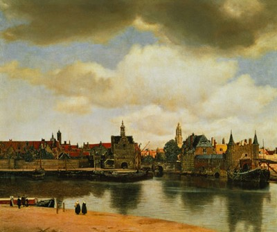 The town of Delft - painted by Vermeer