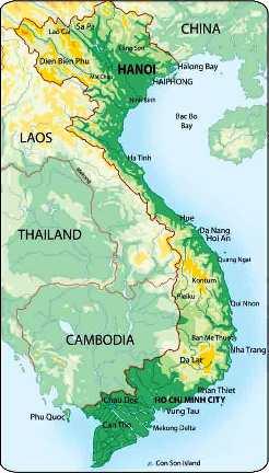 A map of Vietnam