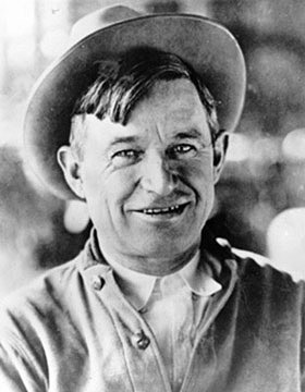 Portrait of will rogers from wikicommons